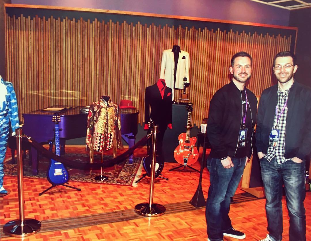Simon and Brian in Studio B at Paisley Park