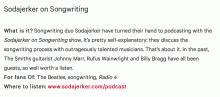 Sodajerker in NME