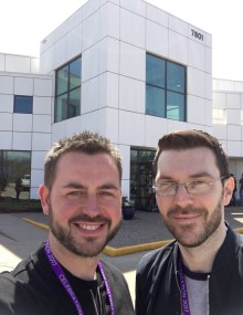 Simon and Brian at Paisley Park